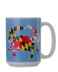 MARYLAND STATE FLAG CRAB - BLUE BACKGROUND