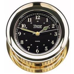 Atlantis Premiere Quartz Ships Bell Clock, Black Dial