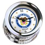 Atlantis Premiere Quartz Ship's Bell Clock, Black Dial