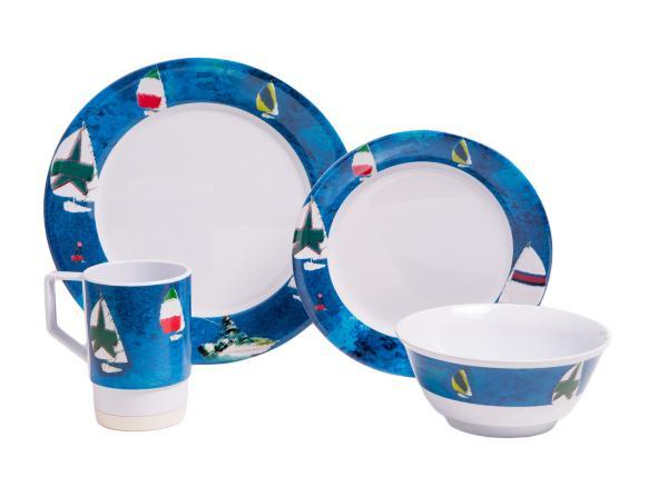 Large Box Sets w/ Drinkware Options  sc 1 st  Galleyware & Melamine Dinnerware Sets (Large Spinnaker) | Galleyware Company