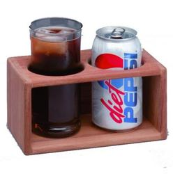 Teak Two-Drink Holder