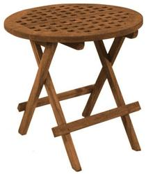 Teak Round Grate Deck Table