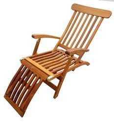 Teak Britannia Folding Steamer Lounge Chair