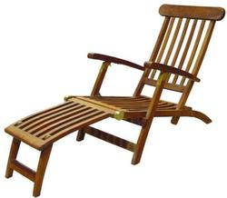Teak Britannia Folding Steamer Lounge Chair