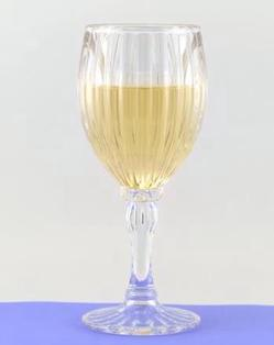 Acrylic Fluted White Wine