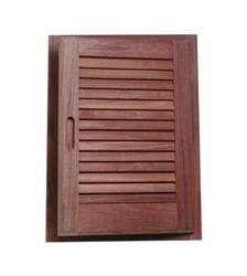 "Teak Louvered Door & Frame - 15"" x 20"""