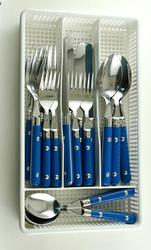 Royal Blue Rivet Flatware Set