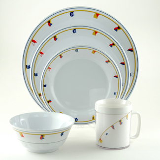 Large Box Set w/ Platter and Drinkware Options  sc 1 st  Galleyware & Melamine Dinnerware Sets w/ Platter (Flags) | Galleyware Company