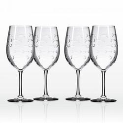 Fish 18-oz. Large Wine Glass (Set of 4)