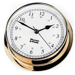 Brass Finish Clock -- 125mm