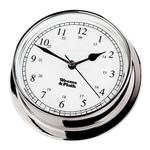 Chrome Finish Clock -- 85mm