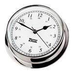 Chrome Finish Clock -- 125mm