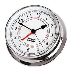 Chrome Finish Time & Tide Clock -- 125mm