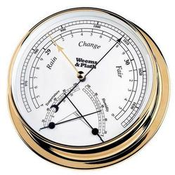 Brass Finish Barometer w/ Comfortmeter -- 145mm