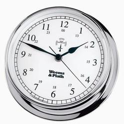 Chrome Finish Radio Control Clock -- 145mm