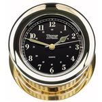Atlantis Premiere Quartz Clock, Black Dial