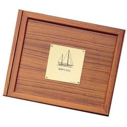 Teak Log Cover, Sailboat Plate