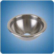 Brush Finished Round Basin (#10924)