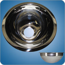 Mirror Finished Round Basin (#10204)