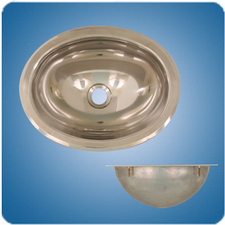 18/8 Polished Finish Oval Basin (#10280)