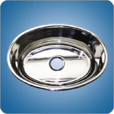 Mirror Finished Oval Basin (#10211)