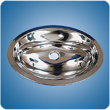 Mirror Finished Oval Basin (#10757)