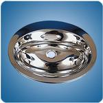 Mirror Finished Oval Basin (#10758)