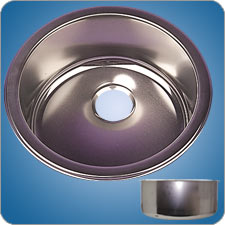 Satin Finished Cylindrical Basin (#10242)