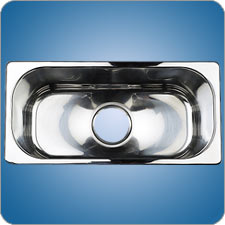 Mirror Finished Rectangular Basin (#10213)