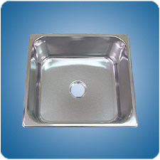 Satin Finished Rectangular Basin (#10654)