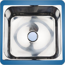 Mirror Finished Rectangluar Basin (#10208)