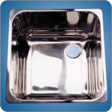 Mirror Finished Rectangular Basin (#10219)