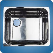 Mirror Finished Rectangular Basin (#10222)