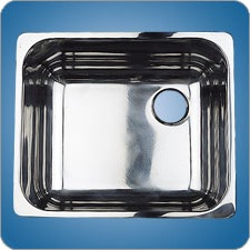 Mirror Finished Rectangular Basin (#10224)