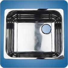 Mirror Finished Rectangular Basin (#10224)