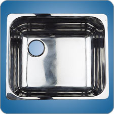 Mirror Finished Rectangular Basin (#10223)