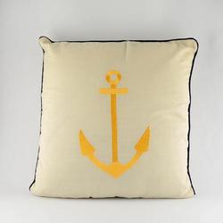 Gold Anchor Pillow