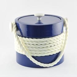 Navy Rope Ice Bucket