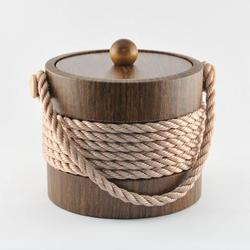 Walnut Rope Ice Bucket