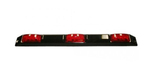 Truck, Trailer 3-Light Sealed 9 Diode LED ID Bar with Black Base