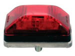 Red LED Stud Mount Clearance Light w/ Stainless Steel Base
