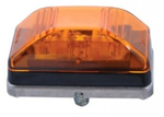 Amber LED Stud Mount Clearance Light w/ Stainless Steel Base