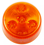 "Round LED Clearance/Marker Light, 4-Diodes, Amber, 2 1/2"" Diameter"
