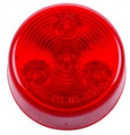 "Round LED Clearance/Marker Light, 4-Diodes, Red, 2 1/2"" Diameter"