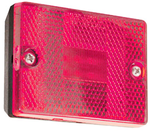 Square, Stud Mount LED Trailer Clearance/Marker Light w/Reflector - Red