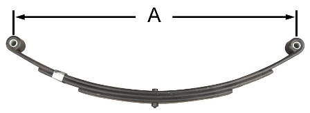 "26"" Double Eye Trailer Leaf Spring (3 Leaf) #AWS-3"