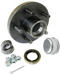 Trailer Wheel Hub KIT for 2500lb. axles - L44649 Bearings - 5 on 4.5""