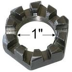 "1"" - 14, Slotted Axle Spindle Nut - 10 Slot"