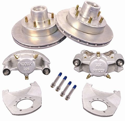 "Kodiak Disc Brake Kit, 12"" Dacromet Rotors/Stainless Calipers - 5200-6000lb. Axles #2/HRCM-12-DAC-SS-K"