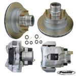 UFP DB-35, 6-Lug Disc Brake Unit w/Zinc Plated Calipers
